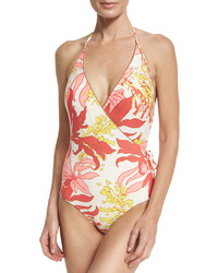 Vince Camuto Bind Surplus One Piece Swimsuit Pink Pattern