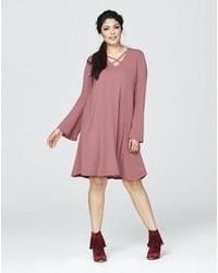 Lace up swing dress medium 1253210