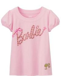 Girls Barbie Short Sleeve Graphic T Shirt