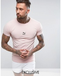 Puma Towelling T Shirt In Pink Exclusive To ASOS 57533306