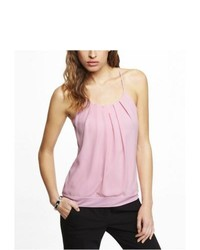 Express Pleated Neck Blouson Cami Pink Large