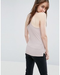 Asos Tank In Fancy Rib