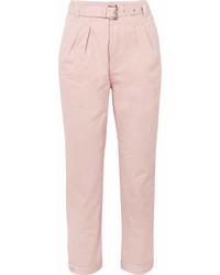 Arsenios cotton twill tapered pants pink medium 6988198