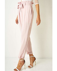 Frontrow Pink Paperbag Trousers