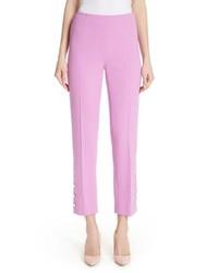 Lela Rose Pearly Button Crop Pants