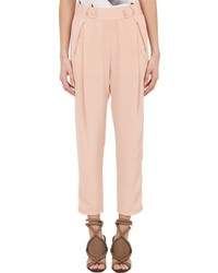 3.1 Phillip Lim Pleated Crepe De Chine Trousers Pink