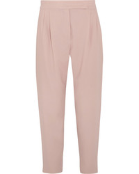 Sartorial wool blend tapered pants pink medium 1126034
