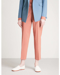 Theory Treeca Cropped Stretch Wool Tapered Trousers