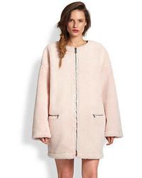 MSGM Oversized Faux Fur Coat