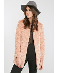 Forever 21 Textured Faux Fur Coat