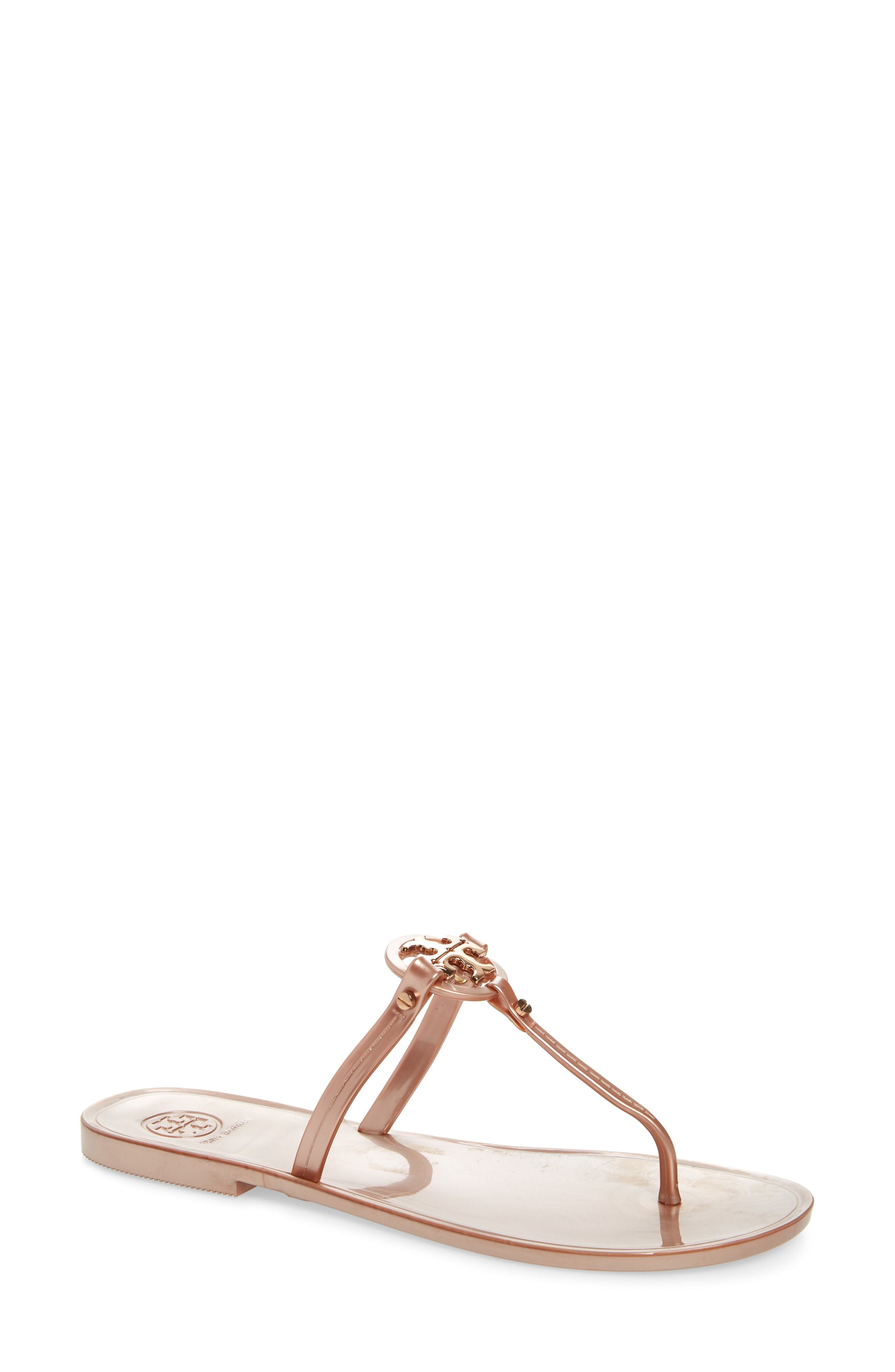 5f3ef46be8be Mini Miller Flat Sandal. Pink Thong Sandals by Tory Burch