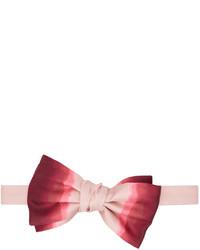 Alexander McQueen Pink Red Silk Dip Dye Bow Tie
