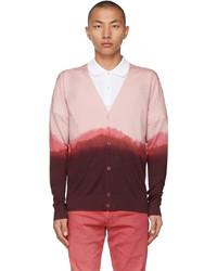 Alexander McQueen Pink Silk Dip Dye Cardigan