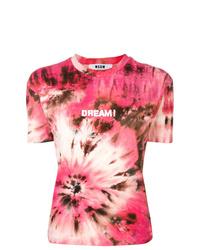 MSGM Dream Print Tie Dye T Shirt