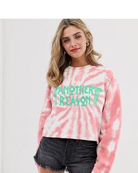 Another Reason Cropped Logo Sweatshirt In Tie Dye
