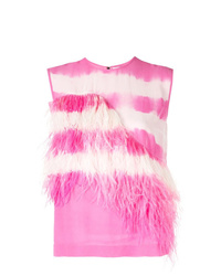 MSGM Feather Embellished Top