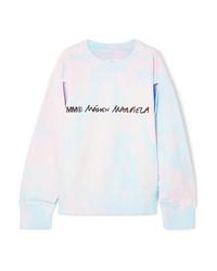 MM6 MAISON MARGIELA Cutout Printed Tie Dyed Cotton Jersey Sweatshirt