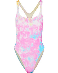 Solid & Striped Redone The Venice Cutout Tie Dyed Swimsuit