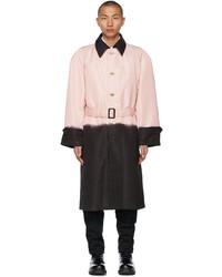 Alexander McQueen Pink Black Printed Dip Dye Trench Coat