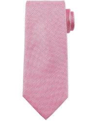 Hugo Boss Boss Textured Solid Silk Tie Pink