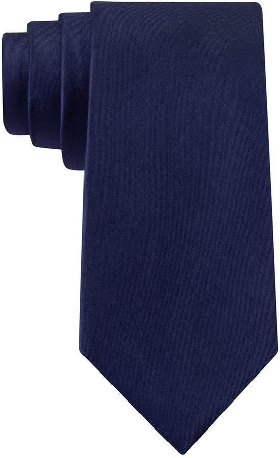 fa2101a1eef2 MICHAEL Michael Kors Michl Michl Kors Sapphire Solid Ii Slim Tie, $65 |  Macy's | Lookastic.com