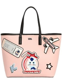 Karl Lagerfeld Jet Fly With Karl Choupette Tote Bag