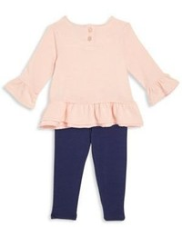 Splendid Babys Two Piece Ribbed Top Pants Set