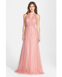 Pink Tulle Evening Dress