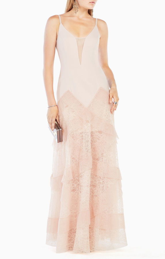BCBGMAXAZRIA Avaline Pleated Gown | Where to buy & how to wear