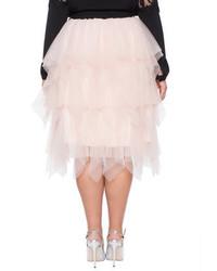 de70f0e54 ELOQUII Plus Size Studio Layered Tulle Midi Skirt, $119   ELOQUII ...