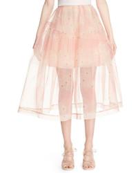 Simone Rocha Print Tulle A Line Midi Skirt