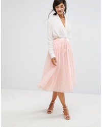 Oasis Tulle Midi Skirt