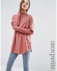 Asos Petite Petite Tunic With High Neck In Cashmere Mix