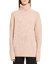 Chloe colorblock cashmere turtleneck sweater medium 3686069
