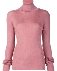 Marios Shimmery Ribbed Turtleneck Pullover