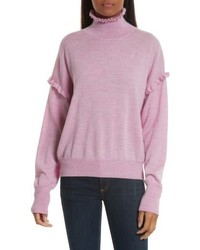 Turtleneck merino wool sweater medium 6754480