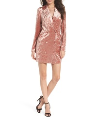 Ali & Jay Hello Romeo Velvet Coat Minidress