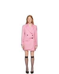 MSGM Pink Oversized Blazer Dress