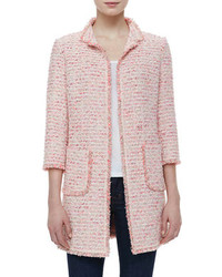 women 39 s pink tweed jacket burgundy pencil skirt burgundy. Black Bedroom Furniture Sets. Home Design Ideas
