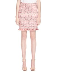 St. John Collection Brigitte Fringe Hem Tweed Knit Skirt