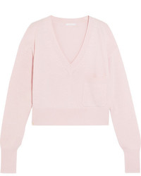 Chloé Cashmere And Cotton Blend Sweater Blush