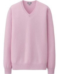 Pink V-neck Sweaters for Men | Men's Fashion
