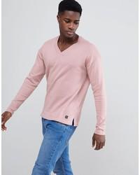 Tom Tailor Knitted Jumper In Deep V Neck