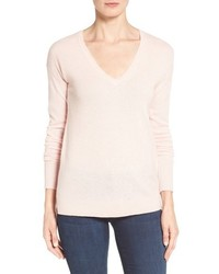 Petite halogen v neck cashmere sweater medium 952061