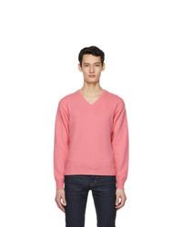 Tom Ford Pink Cashmere V Neck Sweater