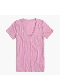 Pink v neck t shirt original 1309407