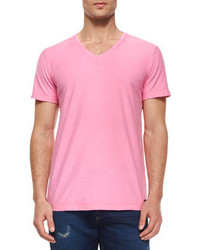 Pink V-neck T-shirts for Men | Men's Fashion