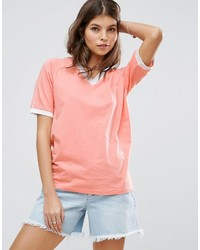 Asos T Shirt With V Neck And Contrast Trim