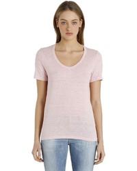Etoile Isabel Marant V Neck Linen T Shirt