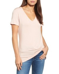 Halogen V Neck Tunic Tee